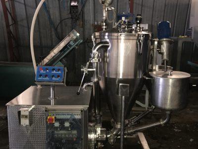 Вакуумный гомогенизатор HP-100 + дозатор наполнитель MXD-100 густых вязких продуктов